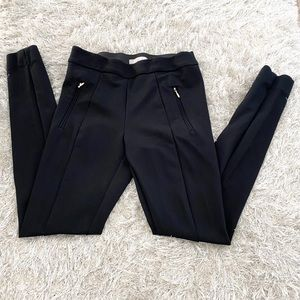 Black H&M Ankle Pants With Gold Pocket Detail